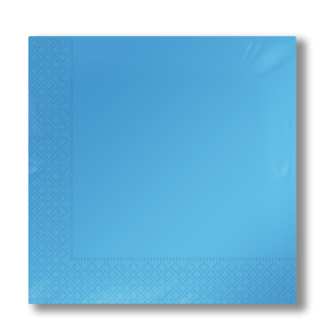 napkins 2-plies light blue