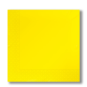 napkins 2-plies yellow
