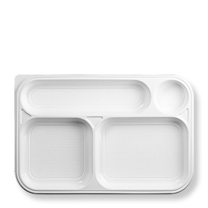 trays with 4 compartments white
