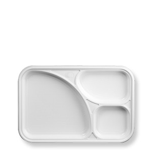 trays with 3 compartments white